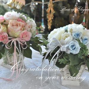 結婚式 両親贈呈花に、体験アレンジメント