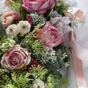 フリーレッスン ピンクのバラのガーランド