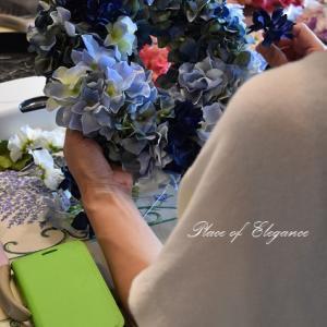 紫陽花リースレッスン