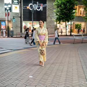 渋谷で浴衣