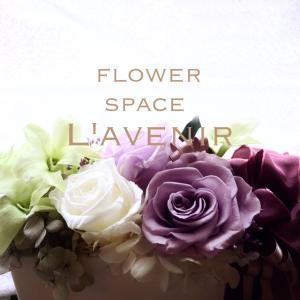 オフィスのお花(プリザーブドフラワー)
