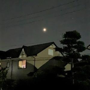 多賀城でもスーパームーン皆既月食が見れました。