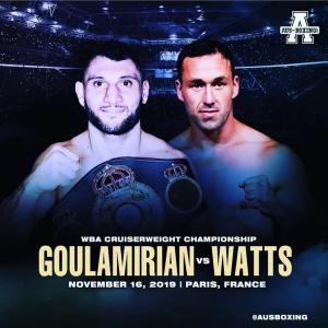 《WBA世界クルーザー級TM・他暫定王座戦》11月15日〜16日 フランス・豪州/No.1008