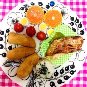 今朝のワンプレート、和食弁当風