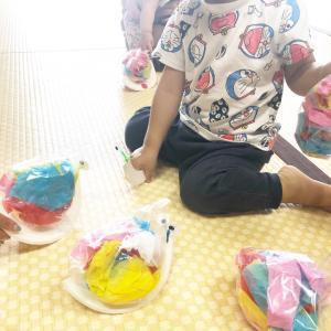【開催レポ】みんなの大好きな色がいっぱいのカタツムリを作りました!