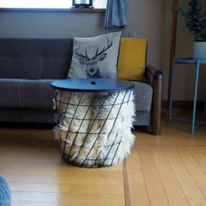 IKEAのサイドテーブル、冬用に。ムートン使ってみました!