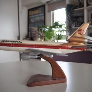 80年代のコンチネンタル航空の木製模型!