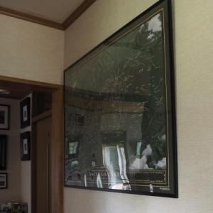 八ケ岳の鳥瞰図をリーズナブルなポスターフレームに入れました。