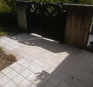 玄関タイルの汚れをザウルス2000で落とす!!きれいになったぞ!
