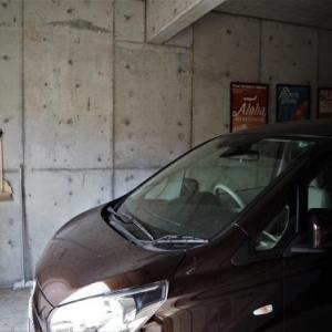 ガレージにIKEAのフックを設置!長いモノの収納に。