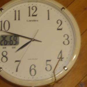 時計の針がグルグル回る