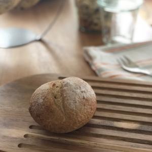 自家製天然酵母のパン、離乳食で。