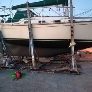 船底塗装終了下架