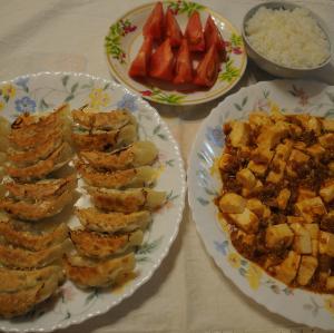 麻婆豆腐 と 餃子♪