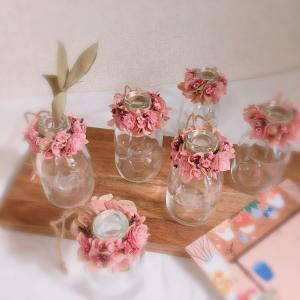 お花小物  一輪挿し*ホワイト+ピンク