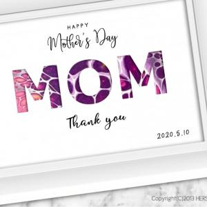 ❤︎母の日アート & カリグラフィー❤︎