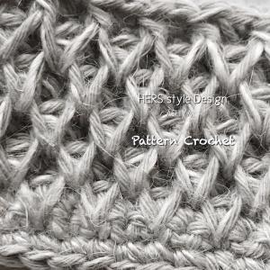 『余り糸消費』ジュートで模様編み❤︎