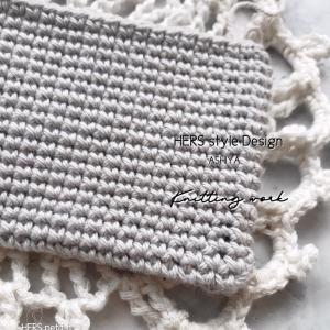 【かぎ針編み】細編みを、真っ直ぐ編みたい…