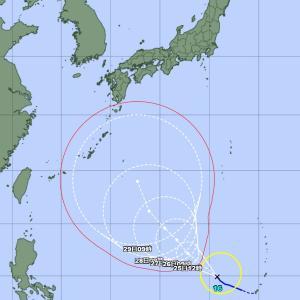 台風16号・・・まだ遠いけど。。。