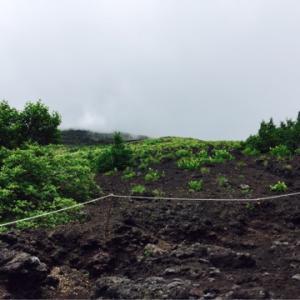 富士登山 プリンスルートから8合目山小屋を目指して