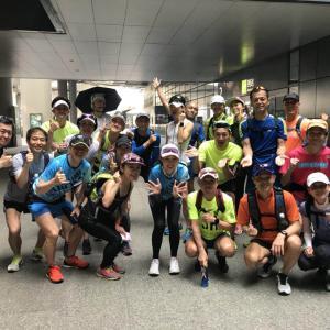 虹橋火車駅から朱家角(約30K)マラニック の応援!