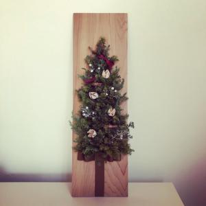 クラフト ◉ ハーフクリスマスツリー