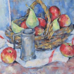 ピシェと果物籠