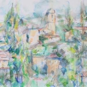ポプラと教会