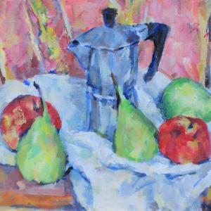 カフェティエラと果物