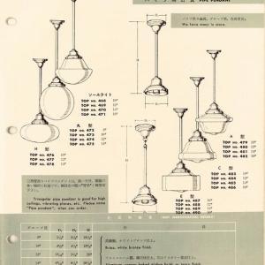 大正浪漫 パイプ吊りの灯具 ('∇^d)