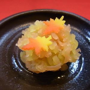 紅葉 秋の上生菓子