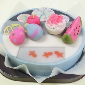 和菓子ケーキのご注文(夏のイメージ) オーダーメイド 練り切り