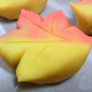 竜田(練り切り)  秋の上生菓子