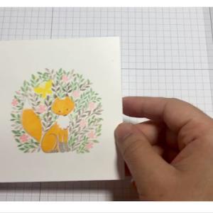 キツネのスタンプ捺し方講座(動画)