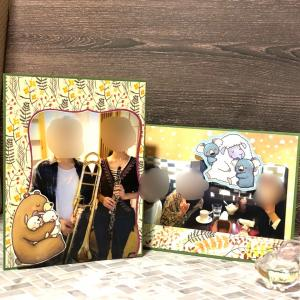 敬老の日の写真たてカード