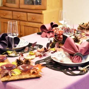 秋のテーブルでワインを愉しむ・・・