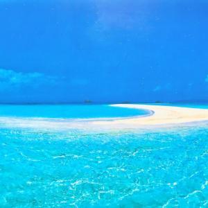 ①海に浮かぶ「幻の島」に行ってきました