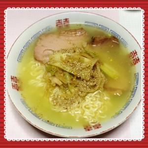 野菜塩ラーメン!@はっぱ食堂