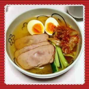 暑いので冷麺^^ @はっぱ食堂