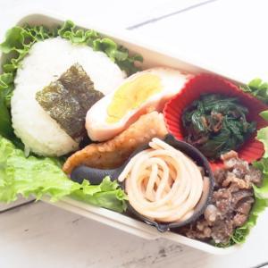 鮭ムニエルと牛肉しぐれ煮弁当