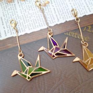 折り鶴のマスクチャーム