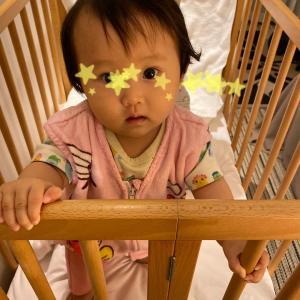 急成長中の娘ちゃんにベビーヘッドガードを購入!