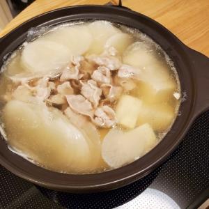 家ごはん:豚ばらと大根スライスのお鍋