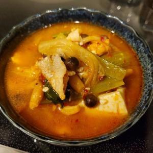 家ごはん:キムチチゲ風スープ