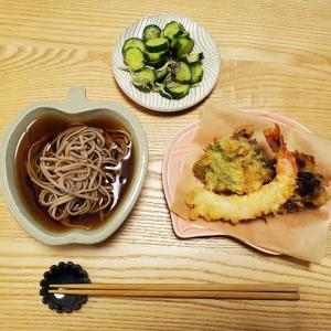 家ごはん:天ぷら蕎麦