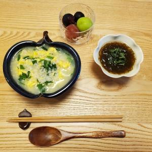 家ごはん:ニラ玉雑炊