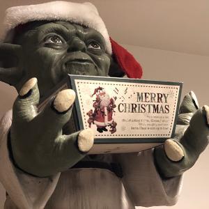 クリスマスの飾りつけで(^^♪