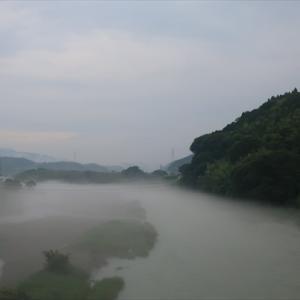 VTRでフルーツライン 川霧と雲海