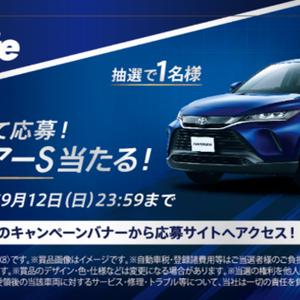【懸賞予告】:トヨタ ハリアーSが当たる!