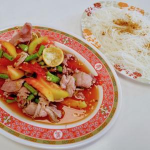 再訪!ピンクのガネーシャ寺「ワットサマーン」で食べた珍しい料理『ムートックロック』